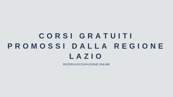 Corsi gratuiti promossi dalla Regione Lazio