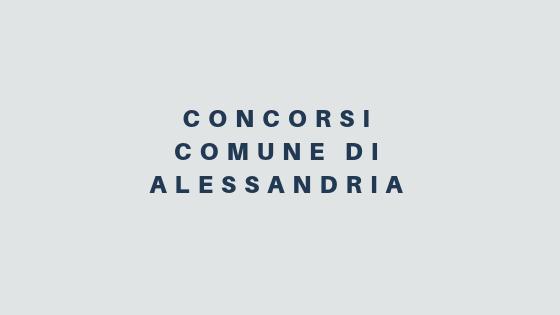 Comune di Alessandria: concorsi per 5 nuove assunzioni
